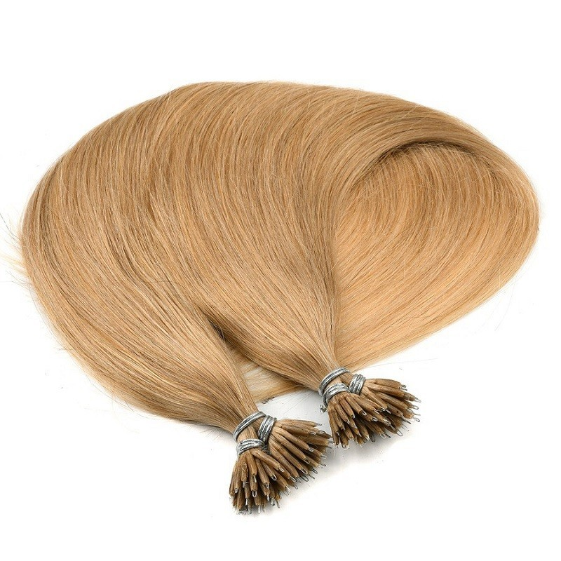 Nano Ring Hair Extensions, Color #16 (Medium Ash Blonde), Made With Remy Indian Human Hair