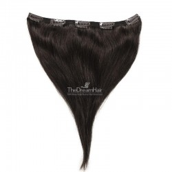 One Piece of Double Weft, Extra Large, Clip-in Hair Extensions, Color #1B (Off Black), Made With Remy Indian Human Hair