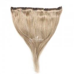 """One Piece of Double Weft """"Extra-Large"""", Clip in Hair Extensions, Color #12 (Light Brown), Made With Remy Indian Human Hair"""