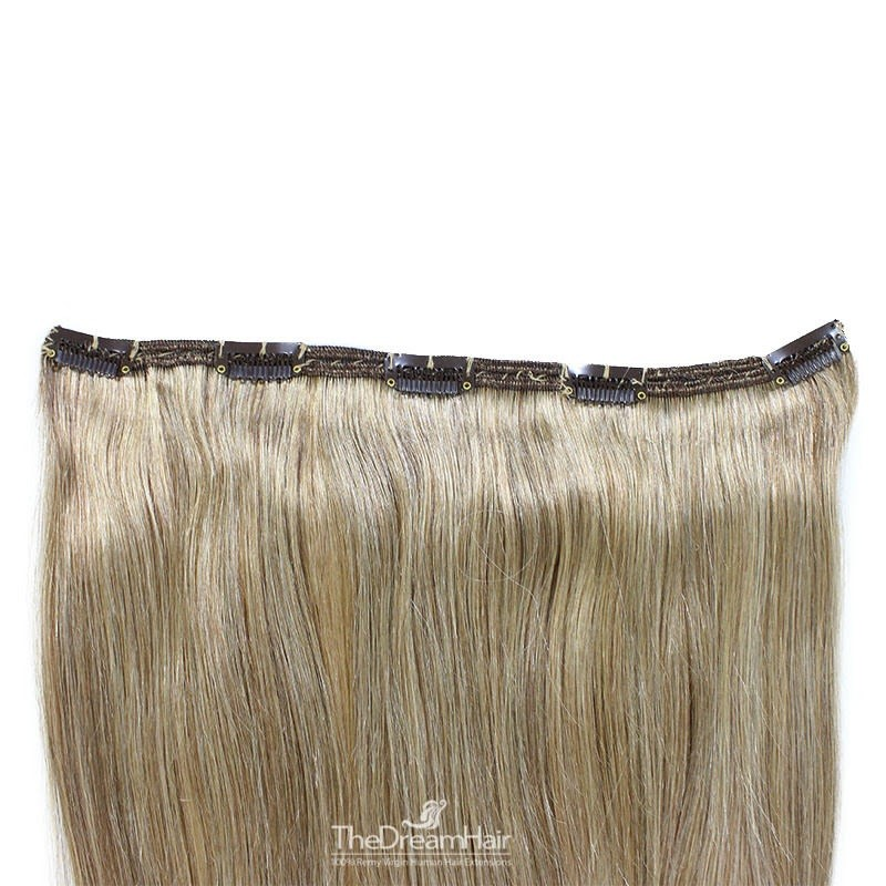 """One Piece of Double Weft """"Extra-Large"""", Clip in Hair Extensions, Color #14 (Dark Ash Blonde), Made With Remy Indian Human Hair"""