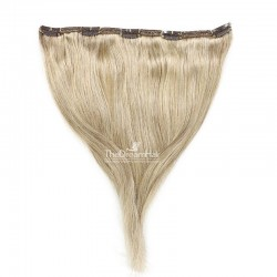 """One Piece of Double Weft """"Extra-Large"""", Clip in Hair Extensions, Color #22 (Light Pale Blonde), Made With Remy Indian Human Hair"""