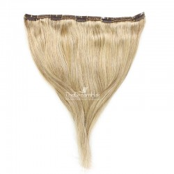 """One Piece of Double Weft """"Extra-Large"""", Clip in Hair Extensions, Color #24 (Golden Blonde), Made With Remy Indian Human Hair"""
