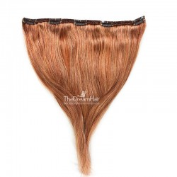 """One Piece of Double Weft """"Extra-Large"""", Clip in Hair Extensions, Color #30 (Dark Auburn), Made With Remy Indian Human Hair"""