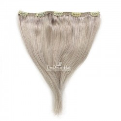 One Piece of Double Weft, Extra Large, Clip-in Hair Extensions, Color #Grey, Made With Remy Indian Human Hair