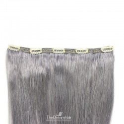 One Piece of Double Weft, Extra Large, Clip-in Hair Extensions, Color #Silver, Made With Remy Indian Human Hair