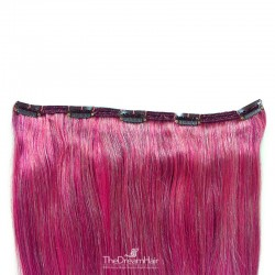 One Piece of Double Weft, Extra Large, Clip-in Hair Extensions, Color #Pink, Made With Remy Indian Human Hair