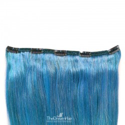 One Piece of Double Weft, Extra Large, Clip-in Hair Extensions, Color #Blue, Made With Remy Indian Human Hair