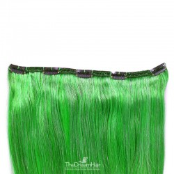 One Piece of Double Weft, Extra Large, Clip-in Hair Extensions, Color #Green, Made With Remy Indian Human Hair