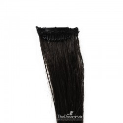 One Piece of Funky Streak Weft, Clip in Hair Extensions, Color #1B (Off Black), Made With Remy Indian Human Hair