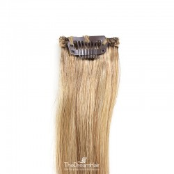 One Piece of Funky Streak Weft, Clip in Hair Extensions, Color #12 (Light Brown), Made With Remy Indian Human Hair