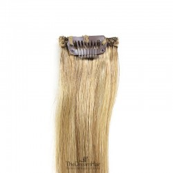 One Piece of Funky Streak Weft, Clip in Hair Extensions, Color #10 (Golden Brown), Made With Remy Indian Human Hair