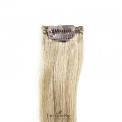 One Piece of Funky Streak Weft, Clip in Hair Extensions, Color #18 (Light Ash Blonde), Made With Remy Indian Human Hair