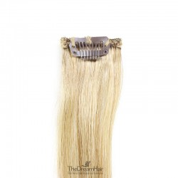 One Piece of Funky Streak Weft, Clip in Hair Extensions, Color #613 (Platinum Blonde), Made With Remy Indian Human Hair