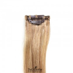 One Piece of Funky Streak Weft, Clip in Hair Extensions, Color #27 (Honey Blonde), Made With Remy Indian Human Hair