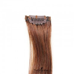 One Piece of Funky Streak Weft, Clip in Hair Extensions, Color #33 (Auburn), Made With Remy Indian Human Hair
