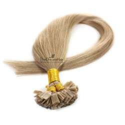 Pre-bonded Hair Extensions, Flat-Tip, Color #14 (Dark Ash Blonde), Made With Remy Indian Human Hair