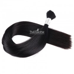 Bulk Hair Extensions, Colour #1B (Off Black), Made With Remy Indian Human Hair