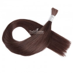 Bulk Hair Extensions, Colour #2 (Darkest Brown), Made With Remy Indian Human Hair