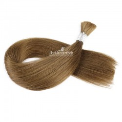 Bulk Hair Extensions, Colour #6 (Medium Brown), Made With Remy Indian Human Hair