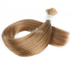 Bulk Hair Extensions, Colour #8 (Chestnut Brown), Made With Remy Indian Human Hair