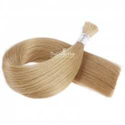 Bulk Hair Extensions, Colour #12 (Light Brown), Made With Remy Indian Human Hair