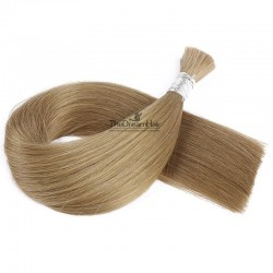 Bulk Hair Extensions, Colour #14 (Dark Ash Blonde), Made With Remy Indian Human Hair