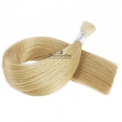 Bulk Hair Extensions, Colour #24 (Golden Blonde), Made With Remy Indian Human Hair