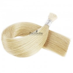 Bulk Hair Extensions, Colour #60 (Lightest Blonde), Made With Remy Indian Human Hair