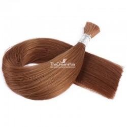 Bulk Hair Extensions, Colour #33 (Auburn), Made With Remy Indian Human Hair