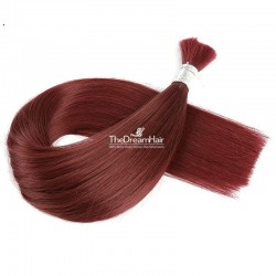 Bulk Hair Extensions, Colour #530 (Red Wine), Made With Remy Indian Human Hair