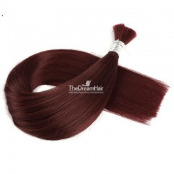 Bulk Hair Extensions, Colour #99j (Burgundy), Made With Remy Indian Human Hair