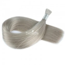 Bulk Hair Extensions, Colour #Grey, Made With Remy Indian Human Hair
