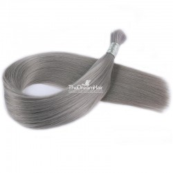 Bulk Hair Extensions, Colour #Silver, Made With Remy Indian Human Hair