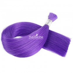 Bulk Hair Extensions, Colour #Purple, Made With Remy Indian Human Hair