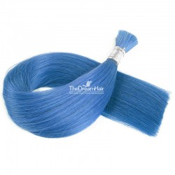Bulk Hair Extensions, Colour #Blue, Made With Remy Indian Human Hair
