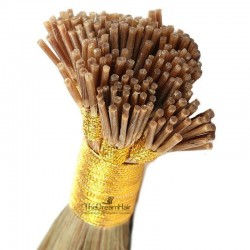 Pre-bonded Hair Extensions, Stick/I-Tip, Color #10 (Golden Brown), Made With Remy Indian Human Hair