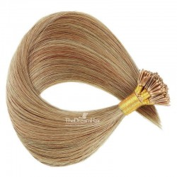 Pre-bonded Hair Extensions, Stick/I-Tip, Color #12 (Light Brown), Made With Remy Indian Human Hair