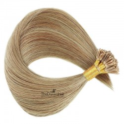 Pre-bonded Hair Extensions, Stick/I-Tip, Color #18 (Light Ash Blonde), Made With Remy Indian Human Hair