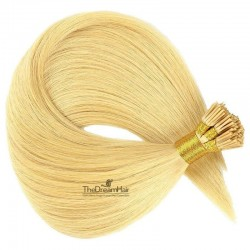 Pre-bonded Hair Extensions, Stick/I-Tip, Color #24 (Golden Blonde), Made With Remy Indian Human Hair