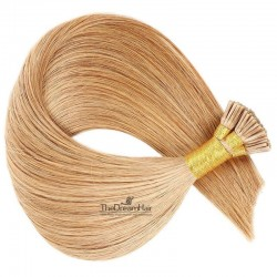 Pre-bonded Hair Extensions, Stick/I-Tip, Color #27 (Honey Blonde), Made With Remy Indian Human Hair