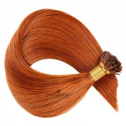 Pre-bonded Hair Extensions, Stick/I-Tip, Color #350 (Dark Copper Red), Made With Remy Indian Human Hair