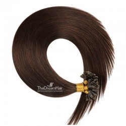 Pre-bonded Hair Extensions, Nail/U-Tip, Color #2 (Darkest Brown), Made With Remy Indian Human Hair