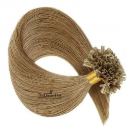 Pre-bonded Hair Extensions, Nail/U-Tip, Color #10 (Golden Brown), Made With Remy Indian Human Hair