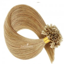 Pre-bonded Hair Extensions, Nail/U-Tip, Color #12 (Light Brown), Made With Remy Indian Human Hair