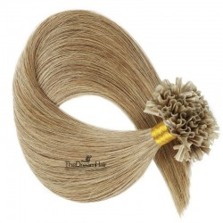 Pre-bonded Hair Extensions, Nail/U-Tip, Color #16 (Medium Ash Blonde), Made With Remy Indian Human Hair