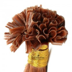 Pre-bonded Hair Extensions, Nail/U-Tip, Color #33 (Auburn), Made With Remy Indian Human Hair