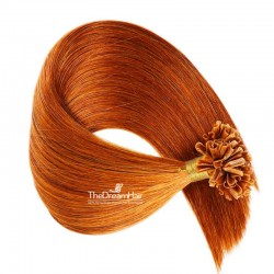 Pre-bonded Hair Extensions, Nail/U-Tip, Color #350 (Dark Copper Red), Made With Remy Indian Human Hair