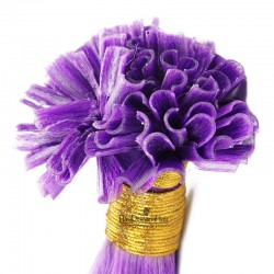 Pre-bonded Hair Extensions, Nail/U-Tip, Color #Purple, Made With Remy Indian Human Hair