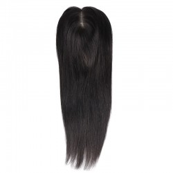 Crown Topper Hair Extensions, Colour #1B (Off Black), Made With Remy Indian Human Hair