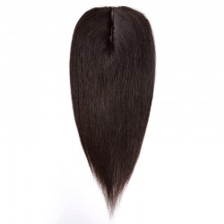 Crown Topper Hair Extensions, Colour #2 (Darkest Brown), Made With Remy Indian Human Hair